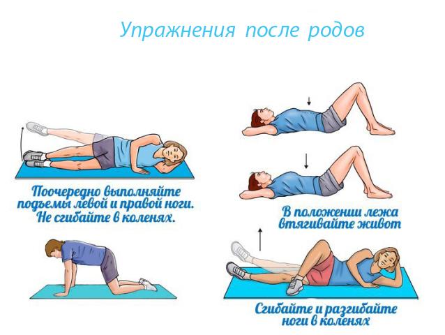 Упражнения для женщины после родов