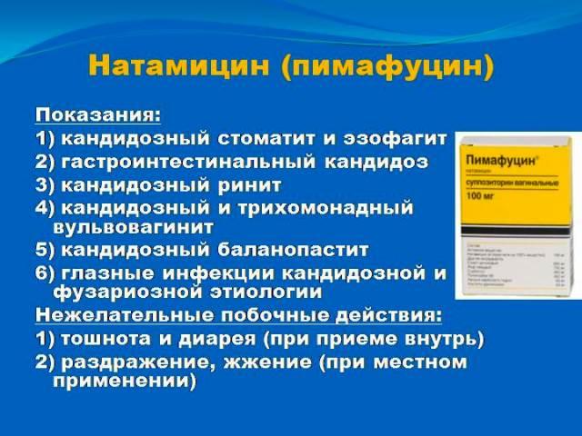 Показания к применению Пимафуцина
